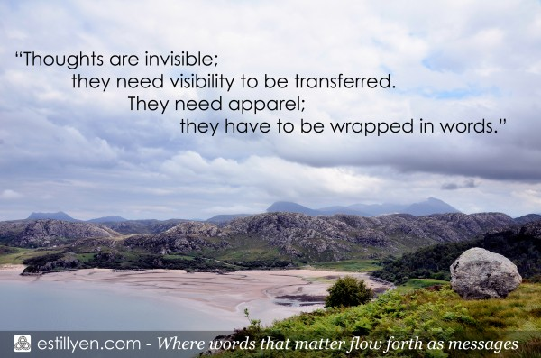 Quotation from the book Messages from Estillyen by William Jefferson